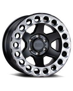 "BLACK RHINO ""ODESSA"" Wheel 17x9.5 in Satin Black with Machined Ring for 07-up Jeep Wrangler JK, JL & JT Gladiator - 1795ODA-85127F71"