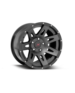 FORTEC Hub Centric F1 Wheel by Rugged Ridge 17x9 in Satin Black for 07-up Jeep Wrangler JK, JL & JT Gladiator - 15301.01