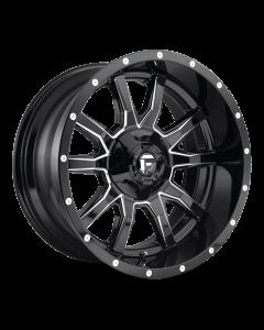 """FUEL D627 """"VANDAL"""" Wheel 20x12 in Gloss Black & Milled for 07-up Jeep Wrangler JK, JL & JT Gladiator - D62720202647"""