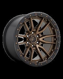"FUEL D681 ""REBEL"" Wheel 20x9 in Satin Bronze with Black Lip for 07-up Jeep Wrangler JK, JL & JT Gladiator - D68120907550"