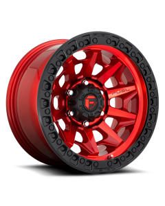 "FUEL D695 ""COVERT"" Wheel 17x9 in Candy Red with Black Ring for 07-up Jeep Wrangler JK, JL & JT Gladiator - D69517907550"