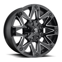 "FUEL D555 ""AMBUSH"" Wheel 17x9 in Gloss Black & Milled for 07-up Jeep Wrangler JK, JL & JT Gladiator - D55517902645"