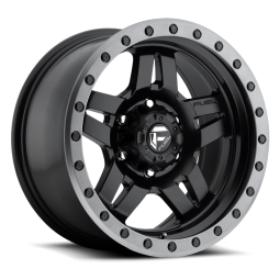 "FUEL D557 ""ANZA"" Wheel 17x8.5 in Satin Black with Anthracite Ring for 07-up Jeep Wrangler JK, JL & JT Gladiator - D55717857345"
