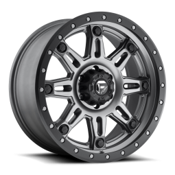 """FUEL D568 """"HOSTAGE III"""" Wheel 18x9 in Satin Anthracite with Black Ring for 07-up Jeep Wrangler JK, JL & JT Gladiator - D56818907350"""