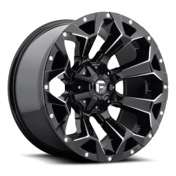 "FUEL D576 ""ASSAULT"" Wheel 17x9 in Gloss Black & Milled for 07-up Jeep Wrangler JK, JL & JT Gladiator - D57617902645"