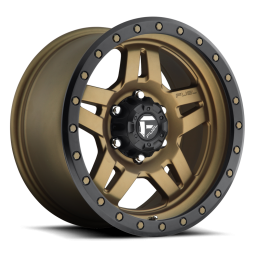"""FUEL D583 """"ANZA"""" Wheel 20x9 in Satin Bronze with Black Ring for 07-up Jeep Wrangler JK, JL & JT Gladiator - D58320907350"""