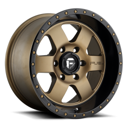 "FUEL D617 ""PODIUM"" Wheel 18x9 in Satin Bronze with Black Lip for 07-up Jeep Wrangler JK, JL & JT Gladiator - D61718907345"