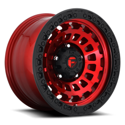 "FUEL D632 ""ZEPHYR"" Wheel 18x9 in Candy Red with Black Lip for 07-up Jeep Wrangler JK, JL & JT Gladiator - D63218907545"