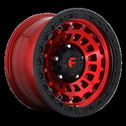 "FUEL D632 ""ZEPHYR"" Wheel 17x9 in Candy Red with Black Lip for 07-up Jeep Wrangler JK, JL & JT Gladiator - D63217907545"