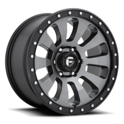 """FUEL D648 """"TACTIC"""" Wheel 18x9 in Satin Anthracite with Black Lip for 07-up Jeep Wrangler JK, JL & JT Gladiator - D64818907545"""
