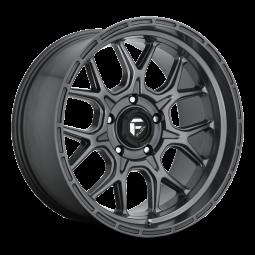 "FUEL D672 ""TECH"" Wheel 17x9 in Satin Anthracite for 07-up Jeep Wrangler JK, JL & JT Gladiator - D67217907550"