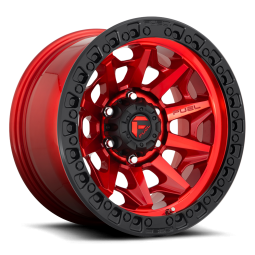 """FUEL D695 """"COVERT"""" Wheel 17x9 in Candy Red with Black Ring for 07-up Jeep Wrangler JK, JL & JT Gladiator - D69517907545"""