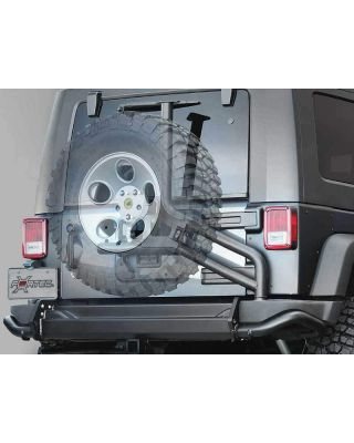 AEV Tire Carrier for AEV or Factory Rear Bumper in Textured Black for 07-18 Jeep Wrangler JK & JK Unlimited - 10305020AC