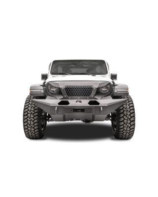 """FAB FOURS Full Width """"GRUMPER"""" Front Bumper for 18-up Jeep Wrangler JL,  JL Unlimited & JT Gladiator - GR4610-1"""