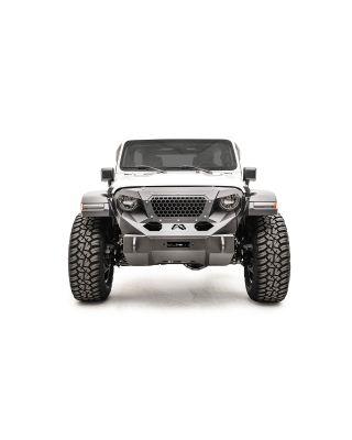 "FAB FOURS Stubby ""GRUMPER"" Front Bumper for 18-up Jeep Wrangler JL,  JL Unlimited & JT Gladiator - GR4650-1"