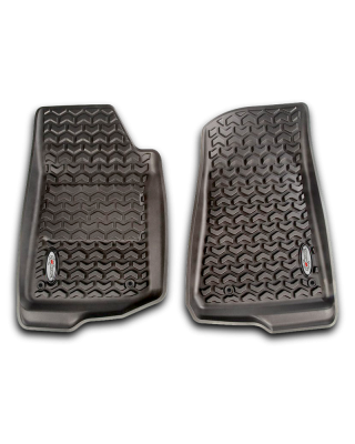 FORTEC Custom Molded Front Floor Liner Pair by RUGGED RIDGE for 18-up Jeep Wrangler JL, JL Unlimited & JT Gladiator - 12920.36