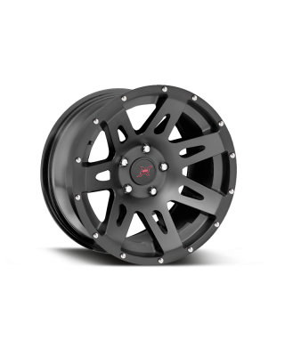 FORTEC Hub Centric F1 Wheel by Rugged Ridge 17x9 in Satin Black for 07-up Jeep Wrangler JK, JL &JT Gladiator - 15301.01