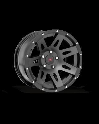 FORTEC Hub Centric F1 Wheel by Rugged Ridge 17x9 in Satin Black for 07-up Jeep Wrangler JK, JL & JT Gladiator - 15301.01