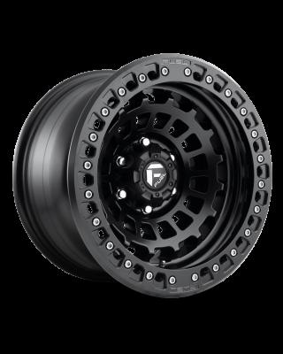 "FUEL D101 ""ZEPHYR"" BEADLOCK Wheel 17x9 in Satin Black for 07-up Jeep Wrangler JK, JL & JT Gladiator - D10117907536"