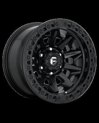 "FUEL D114 ""COVERT"" BEADLOCK Wheel 17x9 in Satin Black for 07-up Jeep Wrangler JK, JL & JT Gladiator - D11417907545"