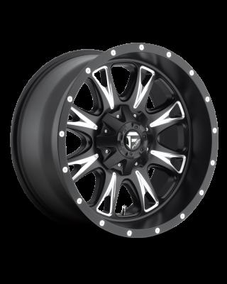 """FUEL D513 """"THROTTLE"""" Wheel 17x9 in Satin Black & Milled for 07-up Jeep Wrangler JK, JL & JT Gladiator - D51317902645"""