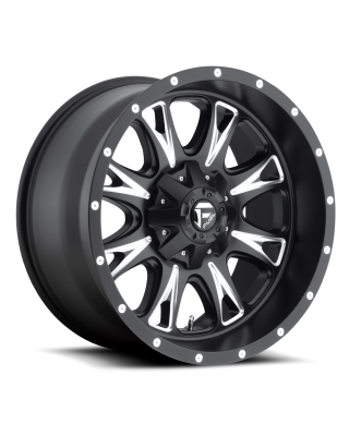 "FUEL D513 ""THROTTLE"" Wheel 20x10 in Satin Black & Milled for 07-up Jeep Wrangler JK, JL & JT Gladiator - D51320002650"