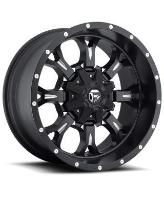 """FUEL D517 """"KRANK"""" Wheel 17x9 in Satin Black & Milled for 07-up Jeep Wrangler JK, JL & JT Gladiator - D51717905745"""