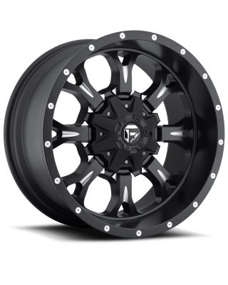 "FUEL D517 ""KRANK"" Wheel 17x9 in Satin Black & Milled for 07-up Jeep Wrangler JK, JL & JT Gladiator - D51717905750"