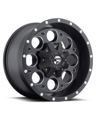 """FUEL D525 """"REVOLVER"""" Wheel 17x9 in Satin Black & Milled for 07-up Jeep Wrangler JK, JL & JT Gladiator - D52517902645"""