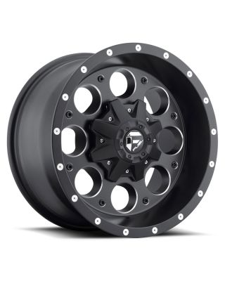 "FUEL D525 ""REVOLVER"" Wheel 18x9 in Satin Black & Milled for 07-up Jeep Wrangler JK, JL & JT Gladiator - D52518902645"
