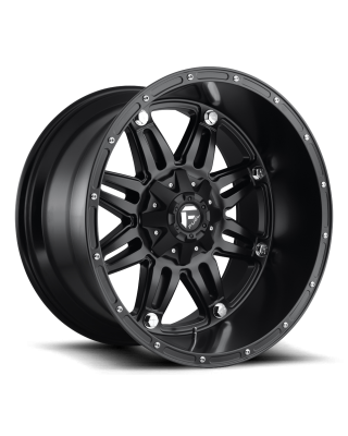 "FUEL D531 ""HOSTAGE"" Wheel 18x12 in Satin Black for 07-up Jeep Wrangler JK, JL & JT Gladiator - D53118202647"
