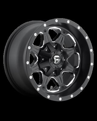 """FUEL D534 """"BOOST"""" Wheel 17x9 in Satin Black & Milled for 07-up Jeep Wrangler JK, JL & JT Gladiator - D53417902645"""
