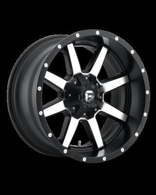 """FUEL D537 """"MAVERICK"""" Wheel 20x12 in Satin Black & Machined for 07-up Jeep Wrangler JK, JL & JT Gladiator - D53720200547"""