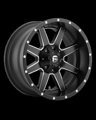 """FUEL D538 """"MAVERICK"""" Wheel 20x10 in Satin Black & Milled for 07-up Jeep Wrangler JK, JL & JT Gladiator - D53820002647"""