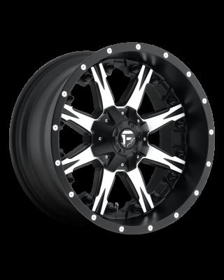 "FUEL D541 ""NUTZ"" Wheel 18x9 in Satin Black & Machined for 07-up Jeep Wrangler JK, JL & JT Gladiator - D54118902650"