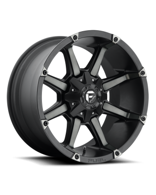 "FUEL D556 ""COUPLER"" Wheel 20x10 in Satin Black with Dark Tint for 07-up Jeep Wrangler JK, JL & JT Gladiator - D55620002650"