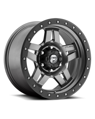 """FUEL D558 """"ANZA"""" Wheel 18x9 in Satin Anthracite with Black Ring for 07-up Jeep Wrangler JK, JL & JT Gladiator - D55818907350"""
