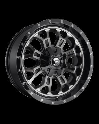 "FUEL D561 ""CRUSH"" Wheel 18x9 Gloss Black with Dark Tint for 07-up Jeep Wrangler JK, JL & JT Gladiator - D56118902650"