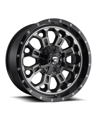 "FUEL D561 ""CRUSH"" Wheel 20x10 Gloss Black with Dark Tint for 07-up Jeep Wrangler JK, JL & JT Gladiator - D56120002647"
