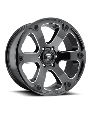 "FUEL D562 ""BEAST"" Wheel 18x9 in Gloss Black & Milled for 07-up Jeep Wrangler JK, JL & JT Gladiator - D56218907345"