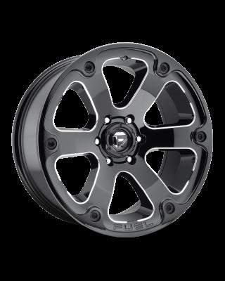 "FUEL D562 ""BEAST"" Wheel 20x10 in Gloss Black & Milled for 07-up Jeep Wrangler JK, JL & JT Gladiator - D56220007347"