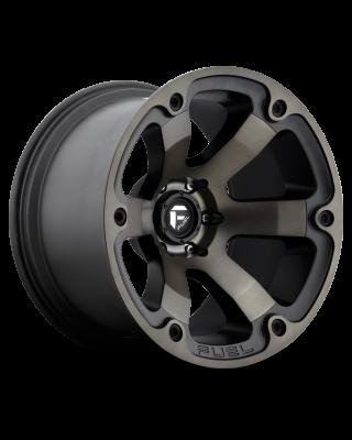 "FUEL D564 ""BEAST"" Wheel 17x10 in Satin Black with Dark Tint for 07-up Jeep Wrangler JK, JL & JT Gladiator - D56417007347"
