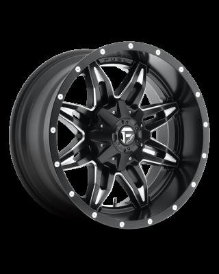 """FUEL D567 """"LETHAL"""" Wheel 18x9 in Satin Black & Milled for 07-up Jeep Wrangler JK, JL & JT Gladiator - D56718902650"""