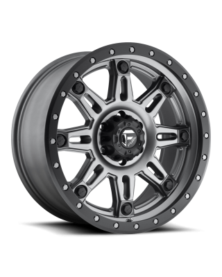 "FUEL D568 ""HOSTAGE III"" Wheel 17x9 in Satin Anthracite with Black Ring for 07-up Jeep Wrangler JK, JL & JT Gladiator - D56817907350"