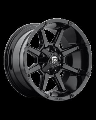 "FUEL D575 ""COUPLER"" Wheel 17x9 in Gloss Black for 07-up Jeep Wrangler JK, JL & JT Gladiator - D57517902645"