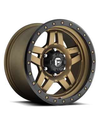 "FUEL D583 ""ANZA"" Wheel 18x9 in Satin Bronze with Black Ring for 07-up Jeep Wrangler JK, JL & JT Gladiator - D58318907350"