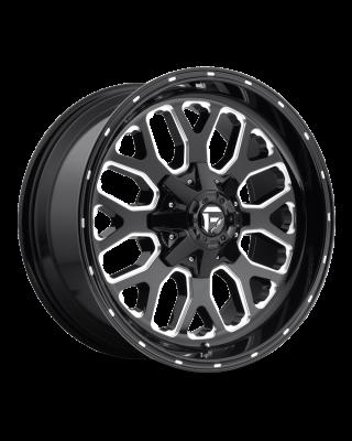 """FUEL D588 """"TITAN"""" Wheel 20x9 in Gloss Black & Milled for 07-up Jeep Wrangler JK, JL & JT Gladiator - D58820902650"""