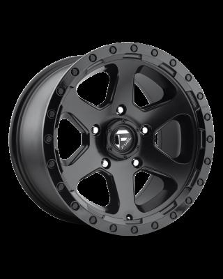 "FUEL D589 ""RIPPER"" Wheel 20x10 in Satin Black with Gloss Black Lip for 07-up Jeep Wrangler JK, JL & JT Gladiator - D58920007347"