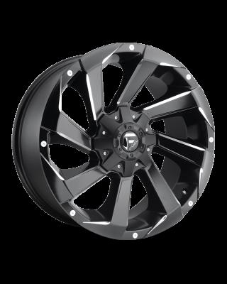 "FUEL D592 ""RAZOR"" Wheel 17x9 in Satin Black & Milled for 07-up Jeep Wrangler JK, JL & JT Gladiator - D59217902645"