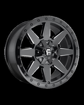 "FUEL D597 ""WILDCAT"" Wheel 20x10 in Gloss Black & Milled for 07-up Jeep Wrangler JK, JL & JT Gladiator - D59720002647"